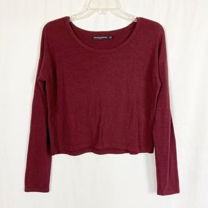 Brandy Melville burgundy red cropped sweater
